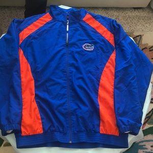 Univ of Florida team gators windbreaker jacket